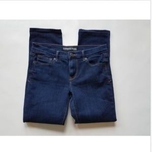 Womens Express Skinny Mid Rise dark wash jeans 8